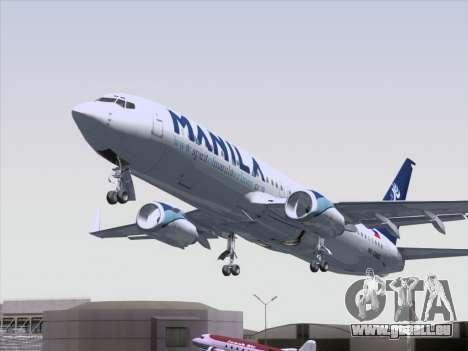 Boeing 737-800 Spirit of Manila Airlines pour GTA San Andreas vue de dessus