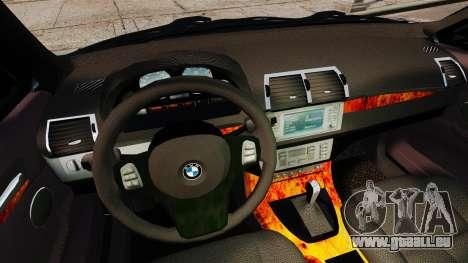 BMW X5 4.8iS v3 pour GTA 4 vue de dessus