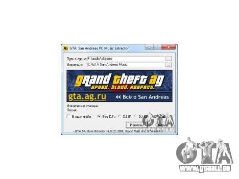 GTA San Andreas Radio Extractor v1.0 für GTA San Andreas