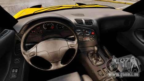 Mazda RX-7 FD3S pour GTA 4 est une vue de l'intérieur