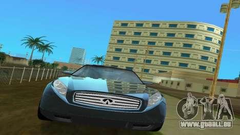 Infiniti Triant pour une vue GTA Vice City de la droite