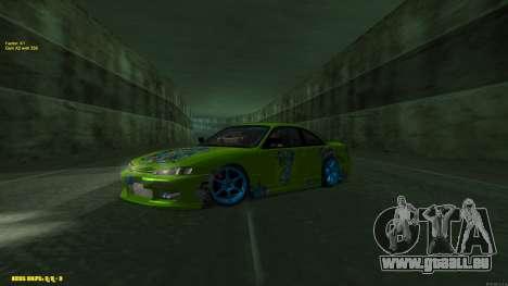Nissan Silvia S14 CIAY pour GTA San Andreas sur la vue arrière gauche