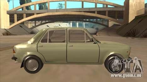 Zastava 1100 pour GTA San Andreas sur la vue arrière gauche