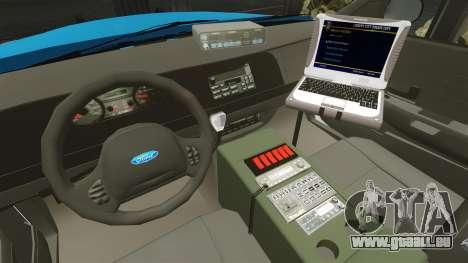 Ford Crown Victoria Police Massachusetts ELS pour GTA 4 Vue arrière