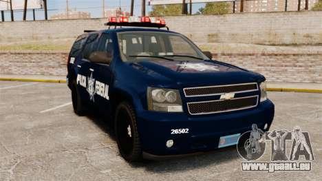 Chevrolet Tahoe 2007 De La Policia Federal [ELS] für GTA 4