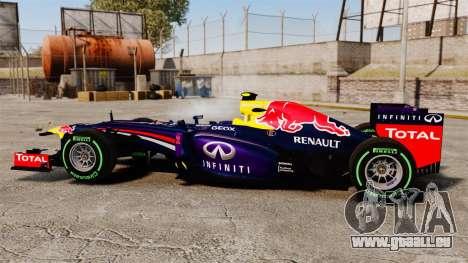 Auto, Red Bull RB9 v3 für GTA 4 linke Ansicht