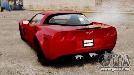 Chevrolet Corvette Z06 pour GTA 4 Vue arrière de la gauche