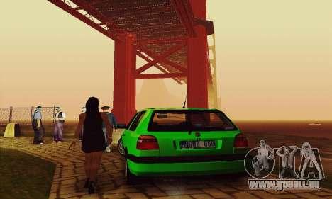 Volkswagen Golf Mk3 GTi 1997 pour GTA San Andreas vue arrière