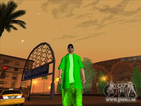 Nouvelle peau Groove st. pour GTA San Andreas cinquième écran