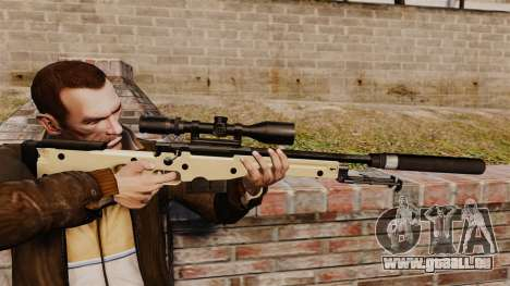 AW L115A1 Scharfschützengewehr mit einem Schalld für GTA 4