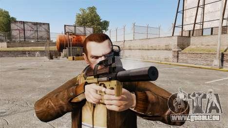 Belge FN P90 pistolet mitrailleur v4 pour GTA 4 troisième écran