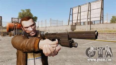 Tactique pistolet Glock 18 v2 pour GTA 4 troisième écran
