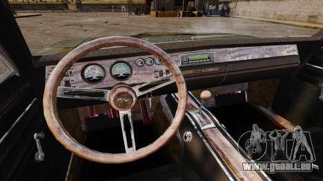 Dodge Charger RT 1969 rouillé v1.1 pour GTA 4 vue de dessus