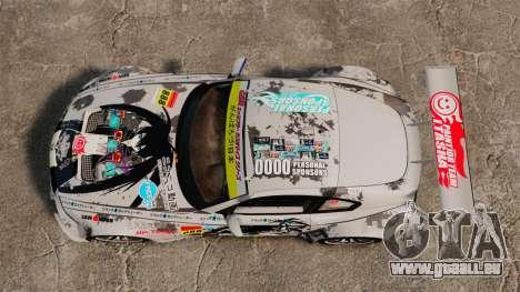 BMW Z4 M Coupe GT Black Rock Shooter pour GTA 4 Vue arrière