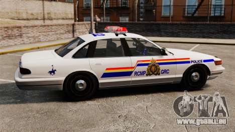 La Gendarmerie royale du Canada pour GTA 4 est une gauche