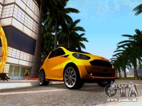 Aston Martin Cygnet 2011 für GTA San Andreas zurück linke Ansicht