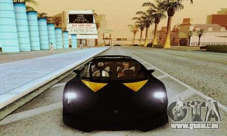 Lamborghini Sesto Elemento pour GTA San Andreas sur la vue arrière gauche