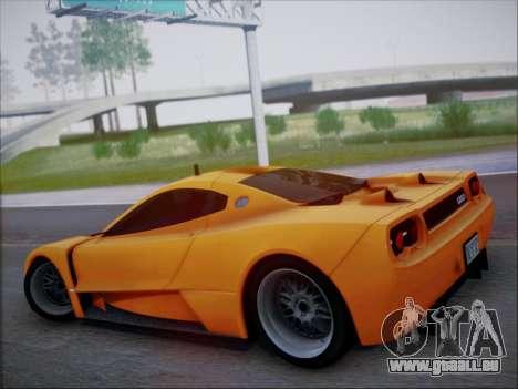 Joss JP1 2010 Supercar V1.0 pour GTA San Andreas vue intérieure