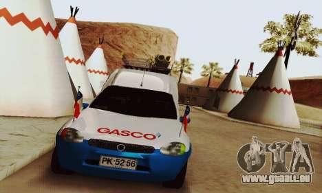 Chevrolet Combo Gasco pour GTA San Andreas sur la vue arrière gauche