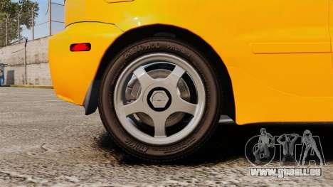Daewoo Lanos Sport US 2001 für GTA 4 Rückansicht