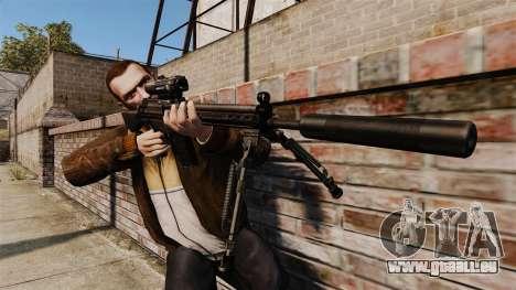 HK G3SG1 sniper rifle v1 pour GTA 4 troisième écran