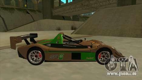 Radical SR8 RX pour GTA San Andreas sur la vue arrière gauche