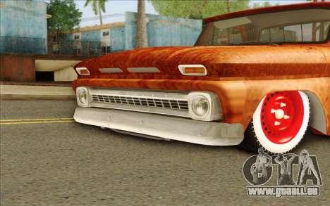 Chevrolet C10 Rat Style pour GTA San Andreas sur la vue arrière gauche