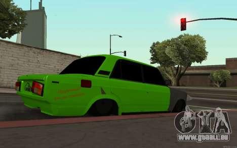 VAZ 2105 Rogue pour GTA San Andreas laissé vue