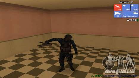 Peau SWAT pour GTA San Andreas quatrième écran