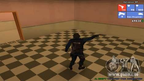 Peau SWAT pour GTA San Andreas cinquième écran