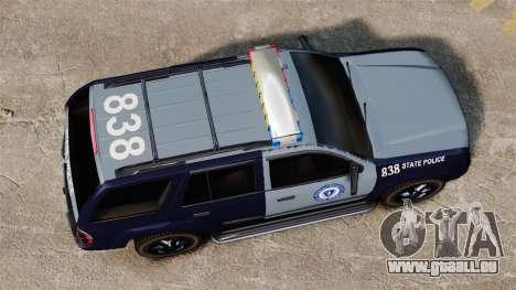 Chevrolet Trailblazer 2002 Massachusetts Police für GTA 4 rechte Ansicht