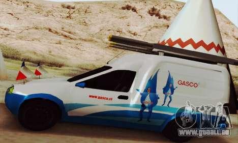 Chevrolet Combo Gasco pour GTA San Andreas vue arrière