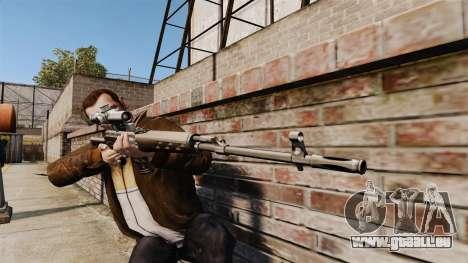Dragunov sniper rifle v2 pour GTA 4 troisième écran