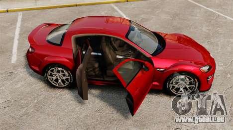 Mazda RX-8 R3 2011 pour GTA 4 est un côté
