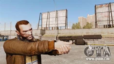 Taktische Pistole Glock 18 v2 für GTA 4