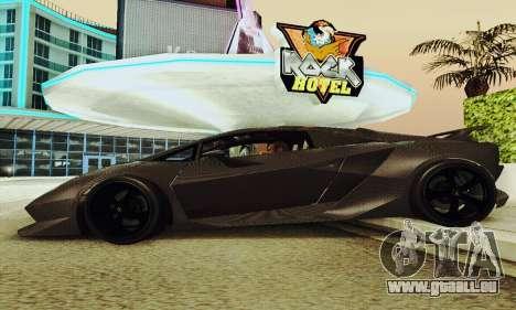 Lamborghini Sesto Elemento für GTA San Andreas obere Ansicht