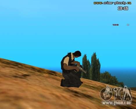 White Chrome Desert Eagle für GTA San Andreas dritten Screenshot