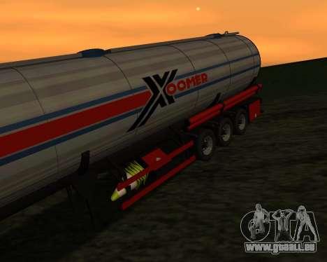 Semi-remorque Container Xoomer pour GTA San Andreas vue arrière