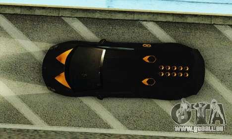 Lamborghini Sesto Elemento für GTA San Andreas Unteransicht