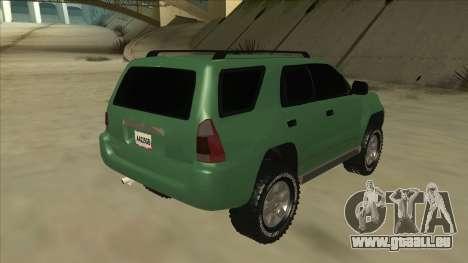 Toyota 4Runner 2009 v2 pour GTA San Andreas vue de droite