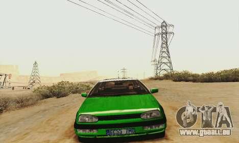 Volkswagen Golf Mk3 GTi 1997 pour GTA San Andreas laissé vue