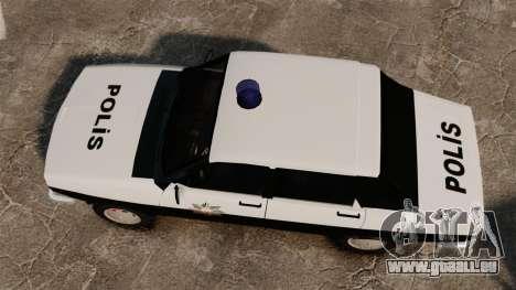 Renault 12 Classic 1980 Turkish Police pour GTA 4 est un droit