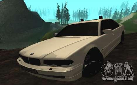 BMW 750iL E38 mit blinkenden Lichtern für GTA San Andreas