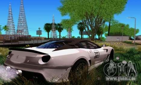 Ferrari 599xx für GTA San Andreas zurück linke Ansicht
