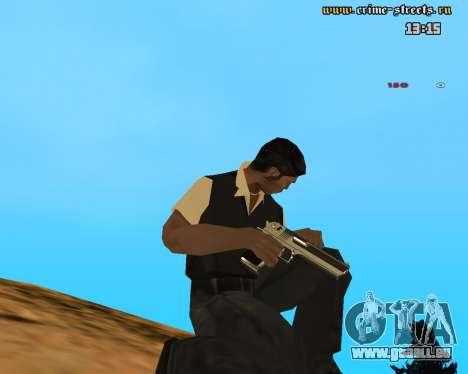 White Chrome Desert Eagle pour GTA San Andreas