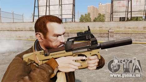 Belge FN P90 pistolet mitrailleur v4 pour GTA 4
