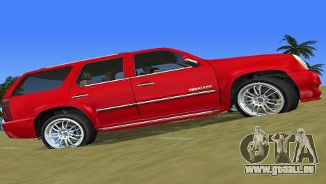 Cadillac Escalade für GTA Vice City linke Ansicht