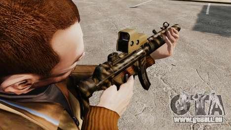 MP5SD mitraillette v3 pour GTA 4 secondes d'écran