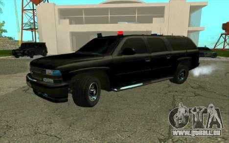 Chevrolet Suburban pour GTA San Andreas vue intérieure