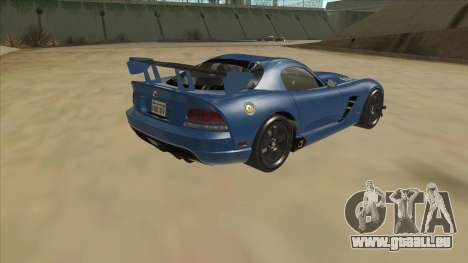 Dodge Viper SRT-10 ACR TT Black Revel pour GTA San Andreas vue de droite